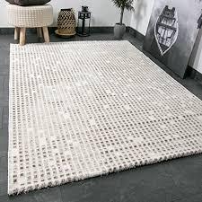 vimoda wohnzimmer teppich in beige creme mit kachel muster