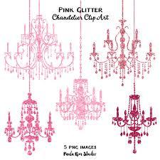 Pink Glitter Chandelier Clip Art Sparkling