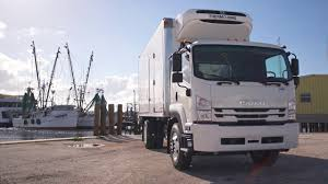 100 Truck Reefer Isuzu FTR With Body In Tampa Running Footage YouTube