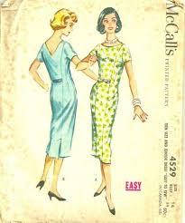 Vintage 50s McCalls 4529 Princess Seam Sheath Dress Pattern SZ 14 B 34