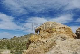 Nevada SKULL HEAD Near Christmas Tree Pass Laughlin Stock Photo