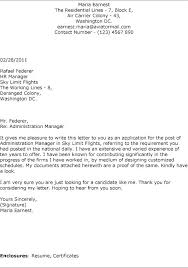 Administrative Services Manager Cover Letter Sample Property Free Servi Position