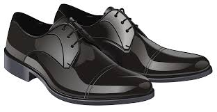 Black Elegant Men Shoes PNG Clipart