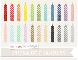 Birthday Candle Clipart Illustrations