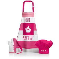 tablier de cuisine enfant ensemble tablier gant et toque pour enfant sissi winkler