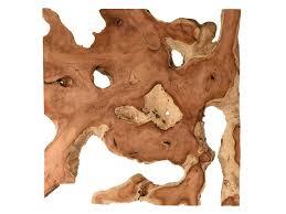 kinada teakholz wandbild wanddeko aus wurzelholz querschnitt wood collection
