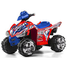 12V Kid Trax Xtreme Quad Bike - Red/Blue   Toys R Us Australia ... Kidtrax 12v Dodge Ram 3500 Fire Engine With Detachable Water Gun 3 12ah Sla Replacement Battery For Kid Trax Truck Kt1003 Ram Dually 12volt Powered Ride On Black Toys R Us Canada Charger Kids Unboxing And Review Wiring Diagram 6v Caterpillar Tractor 6v Rescue Quad Rideon Walmartcom Big Toy Truck Car Electric Power Wheels Drive Masikini Disney Princess Ebay
