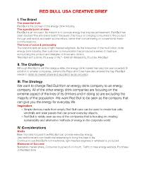 Hotel Front Desk Resume Samples by Red Bull Creative Brief By Alec Black Issuu