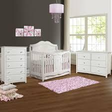 6 Drawer Dresser White by Storkcraft 3 Piece Nursery Set Princess Convertible Crib Kenton