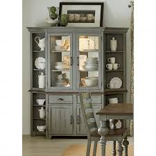Dining Room Hutch Elegant Awesome Distressed Black Buffet Small Image For