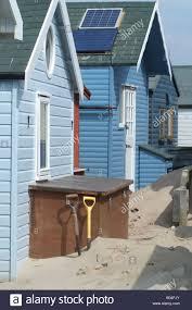 100 Sandbank Houses Mudeford Wooden Beach Dorset England UK Stock Photo