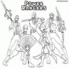Power Ranger Coloring Pages Rangers To Download And Print