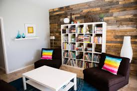 Colorful Contemporary Living Room With Cube Storage