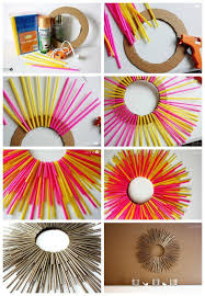 Diy Room Decor From Straws Straw Art Ideas Paper On Crafty Ways To Decorate