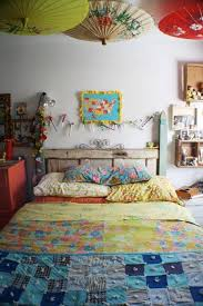 Gypsy Home Decor Ideas by Bedroomustic Bohemian Home Furniture Of Blue Painted Wooden