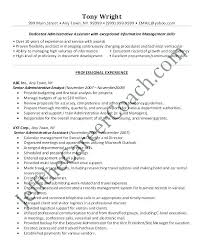 Sample Resume Administrative Assistant Australia Skills Senior Resum