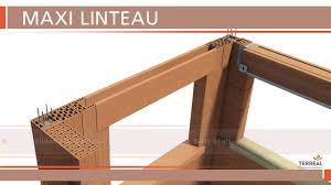 coffre demi linteau terreal terreal structure pose de maxi linteau