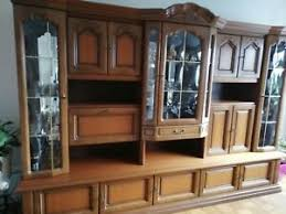 wohnzimmerschrankwand echtholz ebay