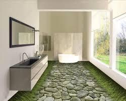 großhandel benutzerdefinierte 3d bodenbelag tapeten für wohnzimmer schlafzimmer bad stein straße vinyl bodenbelag klebstoffe moderne tapete