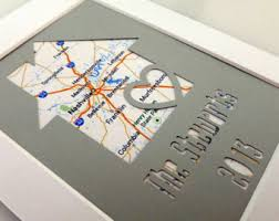 Personalized Home Map Matted Gift