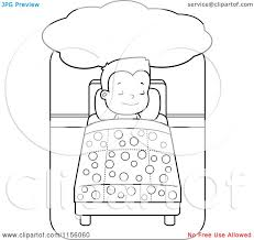 Coloring Book Images Children Resting On Bed