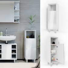 vicco midischrank fynn 95 x 30 cm weiß hochglanz badezimmerschrank badschrank schrank badregal