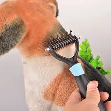 Dog Hair Shedding Blade by Pet Dog Cat Hair Fur Shedding Blade Trimmer Grooming Rake