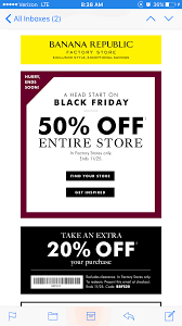 Banana Republic Factory Stores 50% Off On Black Friday Plus ... Athleta Promo Codes November 2019 Findercom 50 Off Bana Republic And 40 Br Factory With Email Code Sport Chek Coupon April Current Thrive Market Expired Egifter 110 In Home Depot Egiftcards For 100 Republic Outlet Canada Pregnancy Test 60 Sale Items Minimal Exclusions At Canada To Save More Gap Uae Promo Code Up Off Coupon Codes Discount Va Marine Science Museum Coupons Blooming Bulb Catch Of The Day Free Shipping 2018 How 30 Off Coupons Money Saver 70