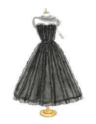 Watercolor Chanel Dress Fashion Illustration Vintage