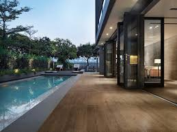sant agostino porcelain wood look tile contemporary pool