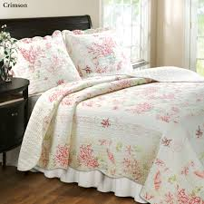 Coral Colored Bedding by Bed Quilt Bedding Set Home Design Ideas