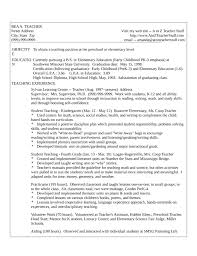 One Page Teacher Resume Example Template