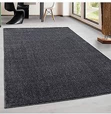 teppich kurzflor modern wohnzimmer einfarbig meliert uni günstig versch farben grau 240x340 cm