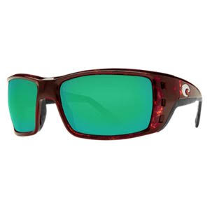 Costa Del Mar Men's Permit Sunglasses - Tortoise/Green Mirror
