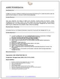 Professional Curriculum Vitae Resume Template Sample Of Experienced MBA Marketing Sales With Free Download In Word Doc Pdf