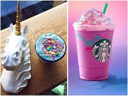 L To R Unicorn Latte From The End Brooklyn Frappuccino Starbucks