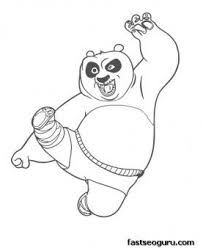 Printable Kung Fu Panda Po Coloring Pages