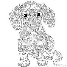 Zentangle Dachshund Dog Sausage DogsAdult Coloring Book