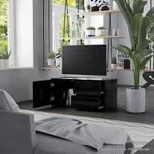 moderne einfache tv schrank für wohnzimmer oder büro in schwarz