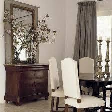 Dining Room Silk Drapes Design Ideas