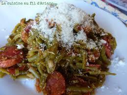 cuisiner des haricots verts haricots verts au chorizo test des recettes du concours à petits