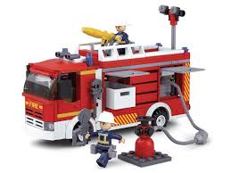 Sluban Fire Engine Rescue Pumper Truck Compatible Building Bricks ...