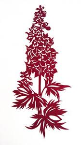 Paper Cut Modern Art LARKSPUR Bordeaux Exceptional Interior Design
