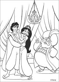 Sultan Soldiers Jasmine And Aladdin Coloring Page