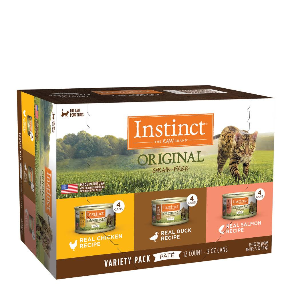 Instinct by Nature's Variety Original Grain-Free Recipe Variety Pack Wet Canned Cat Food, 5.5-oz, Case of 12