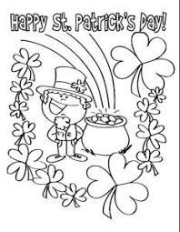 Happy St Patricks Day Coloring Pages For Preschooler