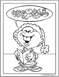 Happy Elf Coloring Sheet Christmas Wishes