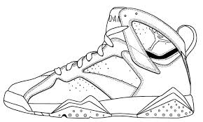 Free Printable Coloring Jordan Pages 35 For Basketball Shoe