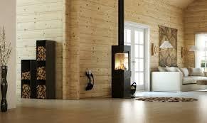 kaminholz aufbewahrung innen praktisch und dekorativ im