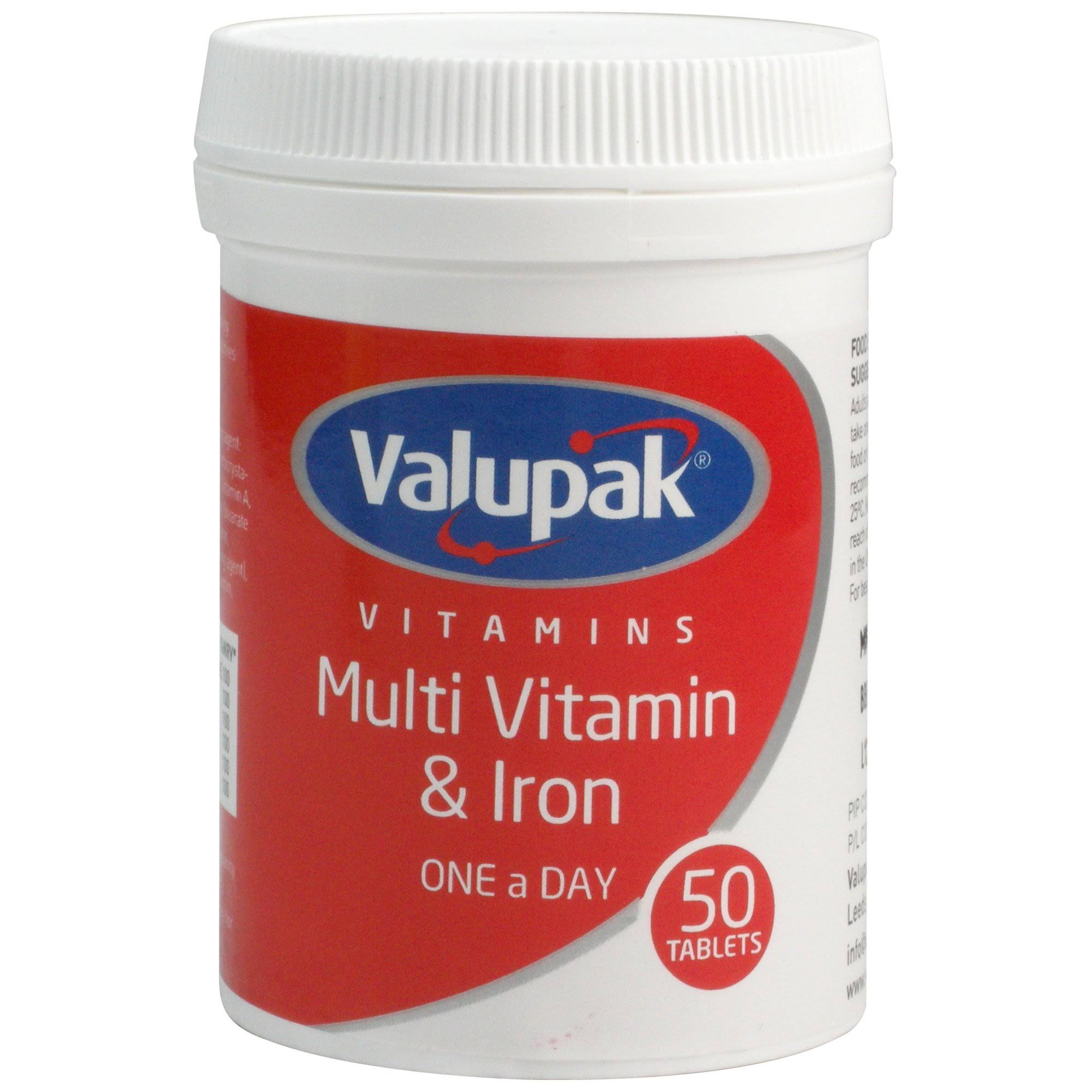 Valupak Multi Vitamin & Iron Tablet - 60 Tablets